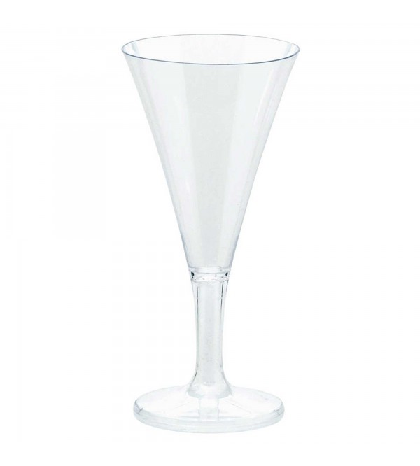 Clear Mini Catering Champagne Flute Plastic Glasses 59ml Pack of 20