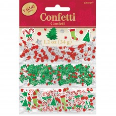 Christmas Party Decorations - Confetti Christmas Designs Foil & Paper