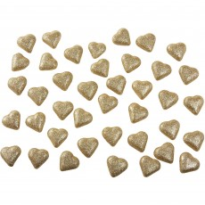 Heart Gold Table Scatters Confetti 3.5cm Pack of 40