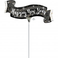 Mini Banner Happy New Year Shaped Balloon