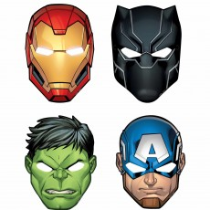 Avengers Party Supplies - Party Masks Marvel Powers Unite Paper