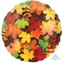 Round Misc Occasion Standard HX Colourful Leaves Foil Balloon 45cm