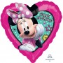 Heart Minnie Mouse Happy Helpers Standard HX Happy Birthday Shaped Balloon 45cm