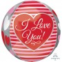 Orbz XL Stripes I Love You! Shaped Balloon 38cm x 40cm