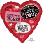 Heart Standard HX Love You Most Shaped Balloon 45cm