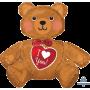 CI: Large Sitting Bear I Love You Shaped Balloon