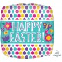 Square Standard Egg Pattern Happy Easter! Shaped Balloon 45cm