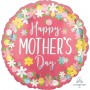 Round Jumbo Shape Floral Wreath Happy Mother's Day Shaped Balloon