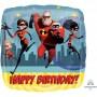 Square Incredibles 2 Standard HX Happy Birthday Shaped Balloon 45cm