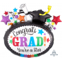 Graduation SuperShape Congrats Grad! You're a Star Shaped Balloon 73cm x 68cm