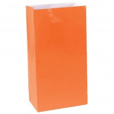 Orange Peel Large Paper Favour Bags 25cm x 13cm Pack of 12