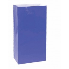 Bright Royal Blue Large Paper Favour Bags 25cm x 13cm Pack of 12