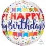 Orbz XL Banner Bash Happy Birthday! Shaped Balloon 38cm x 40cm