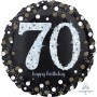 Round 70th Birthday Sparkling Celebration Jumbo Holographic Foil Balloon 71cm