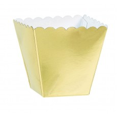 Gold Scalloped Paper Favour Boxes 5.7cm x 3.8cm x 3.8cm Pack of 100