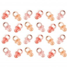 Baby Shower Party Supplies - Favours Mini Pacifiers Pink