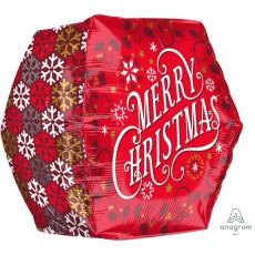 Anglez Christmas UltraShape Geometric Shaped Balloon 40cm x 40cm