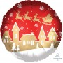 Christmas Party Decorations - Foil Balloon Std. Satin Santa & Village