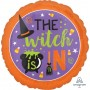 Halloween Standard HX The Witch Is In Foil Balloon 45cm
