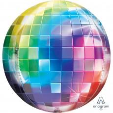 Orbz XL Disco & 70's Disco Ball Shaped Balloon 38cm x 40cm
