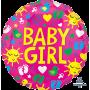 Round Baby Shower - General ColorBlast XL Sunshine Baby Girl Foil Balloon 53cm