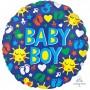 Round Baby Shower - General ColorBlast XL Sunshine Fun BABY BOY Foil Balloon 53cm