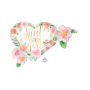 Baby Shower - General SuperShape Floral Sweet Baby Girl Shaped Balloon 68cm x 50cm