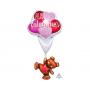 Multi-Balloon Giant Floating Bear Happy Valentine's Day Shaped Balloon