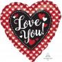 Heart Standard HX Heart to Heart Love You Shaped Balloon 45cm