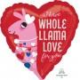 Heart Standard HX Llama I Have Whole Llama Love for You Shaped Balloon 45cm
