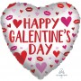 Heart Valentine's Day Standard Satin Infused Happy Galentine's Day Shaped Balloon 45cm