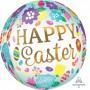 Orbz XL Eggs & Tulips Happy Easter Shaped Balloon 38cm x 40cm
