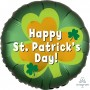 Round Standard XL Satin Infused Happy St Patrick's Day! Foil Balloon 45cm