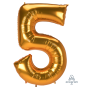 Number 5 Party Decorations - Shaped Balloon SuperShape Jumbo