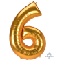Number 6 Party Decorations - Shaped Balloon SuperShape Jumbo