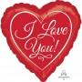 Heart Standard HX Traditional Script I Love You Shaped Balloon 45cm