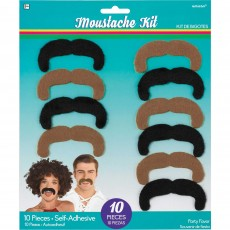 Disco & 70's Party Supplies - Good Vibes Moustaches