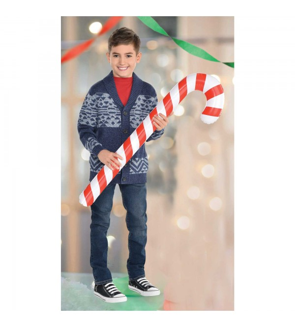 Christmas Inflatable Candy Cane Misc Decorations 83cm