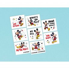 Mickey Mouse Party Supplies - Favours Forever Tattoos