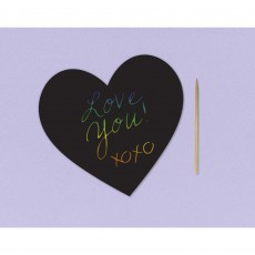 Love Party Supplies - Scratch Art Black Hearts