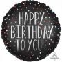 Round Satin Dots Standard XL Happy Birthday To You! Foil Balloon 45cm