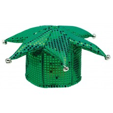Green Party Supplies - Jester Sequin Hat