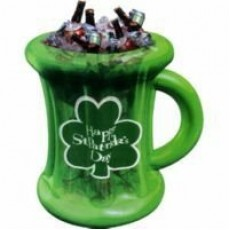 Inflatable Beer Mug Happy St Patrick's Day Cooler 63cm x 48cm