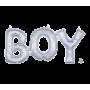 Silver Baby Shower - General CI: Script Phrase BOY Shaped Balloon 50cm x 22cm