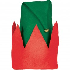 Christmas Elf Hat & Bell Head Accessory Child Size 33cm x 28cm