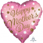Heart Standard XL Satin Infused Happy Mother's Day Shaped Balloon 45cm