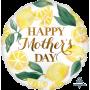 Round Standard HX Lemons Happy Mother's Day Foil Balloon 45cm