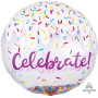 Round Happy Birthday Confetti Celebrate! Shaped Balloon 71cm