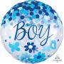Round Baby Shower - General Confetti Boy Shaped Balloon 71cm