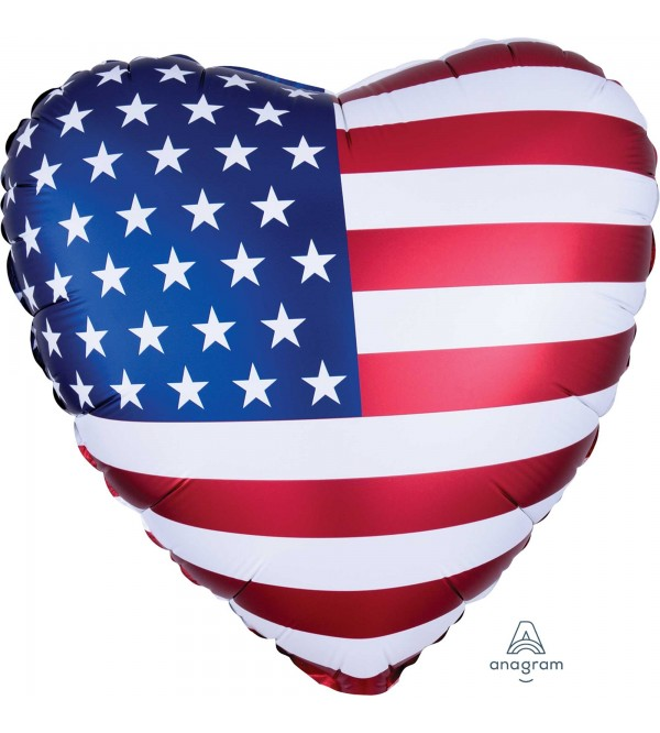 USA Party Decorations - Shaped Balloon Standard XL Patriotic Flag